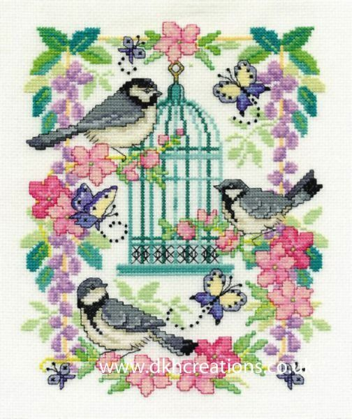 Oriental Birdcage Cross Stitch Kit